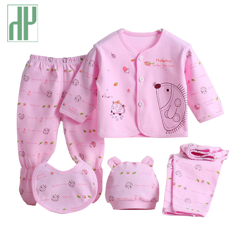 HH 5pcs/set newborn clothes 0-3M newborn baby girl clothes 100% Cotton Cartoon baby boy overalls long sleeves infant clothing цена