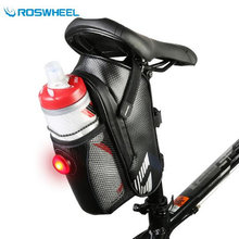 Roswheel Tail Light / Carry Jar Bicycle Bag MTB Road Mountain Bike Saddle Rear Seat Bag Bicycle Accessories Cycling Storage Bag