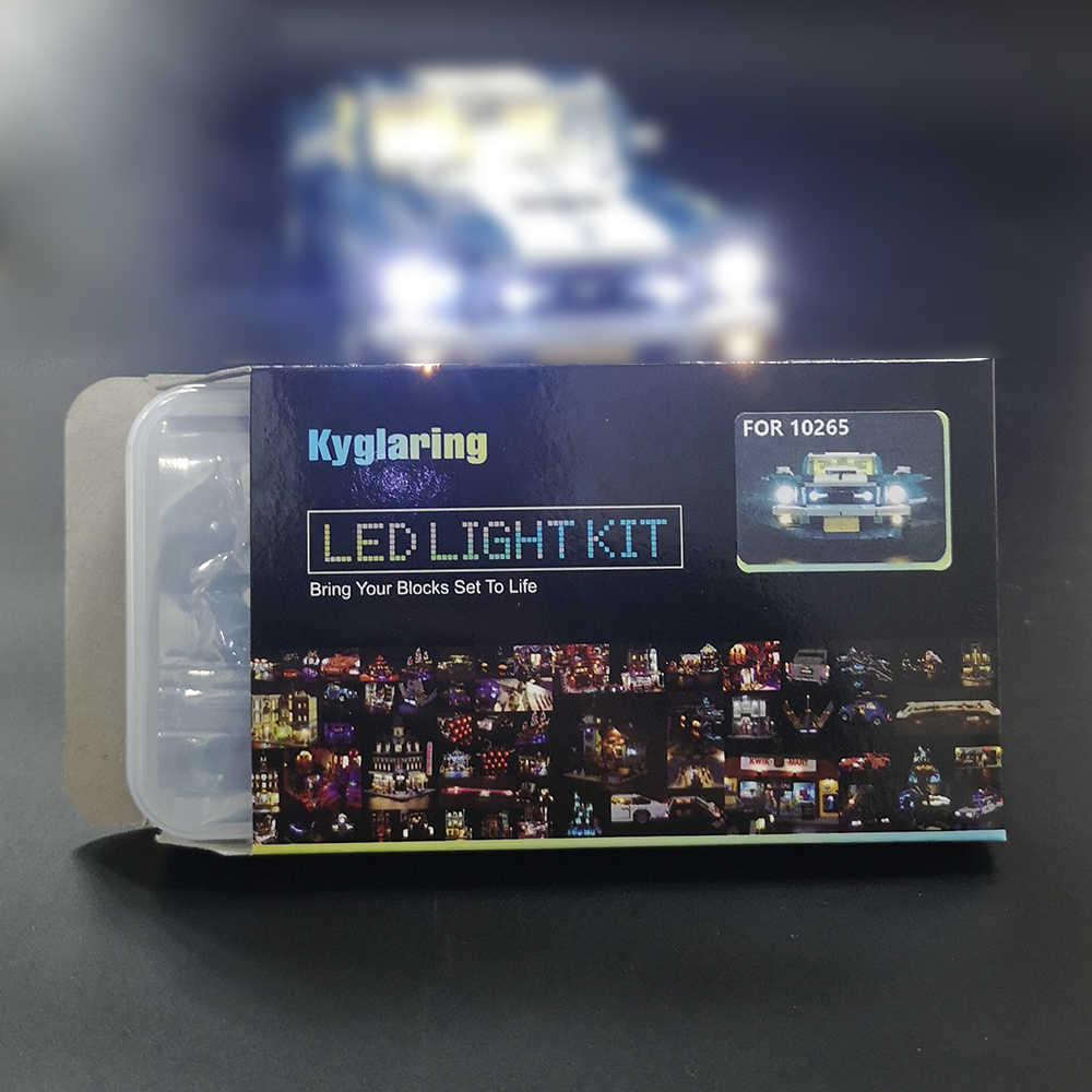 Kyglaring zestaw oświetlenia LED do lego 10265 samochodów bloki zestaw