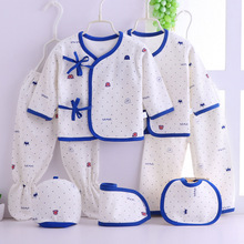 Newborn Baby Girls Clothes 7Pcs/set Infant Bebe Cotton Underwear Suit For Children Boys Roupa 0-3M