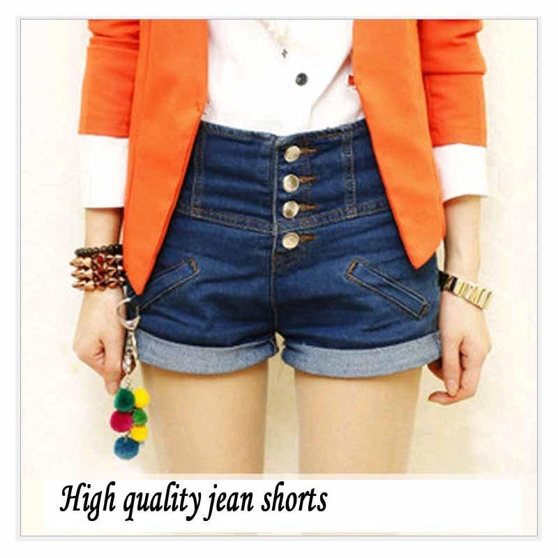 Aliexpress.com : Buy L 4XL Big Size High waist Shorts jeans Women ...