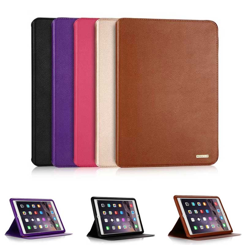 Ultrathin Cowhide Genuine Leather Case for Apple iPad Pro 9 7 New Case Luxury Slim Business Stand Smart Cover for iPad Pro 9 7 quot in Tablets amp e Books Case from Computer amp Office