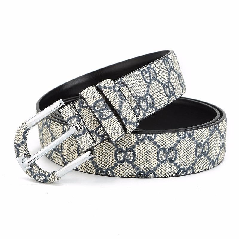 High Quality Mens Belts Classic Pin Buckle Waist Belts For Men Belts Men's Belt  Vintage Bovine Leather Lattice Jeans Girdle
