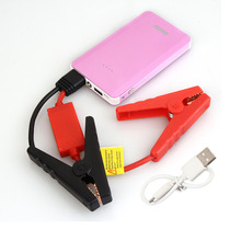 New Pink Color 8000mAh Car Jump Starter Mini Emergency Charger Battery Booster Power Bank Jump Starter for Car Phone