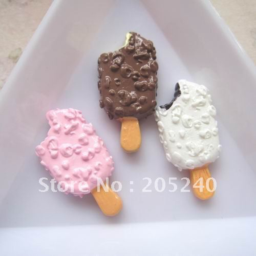 21pcs Hot Sale Kawaii Flat Back Resin Icecream Accessory For DIY Phone,Note Book Decoration