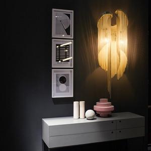 Image 5 - Italian Atlantis Luxury Chain Light Wall Lamps mirror light Stream sconce Wall Lights Bathroom light bedroom lamp For LOFT decor