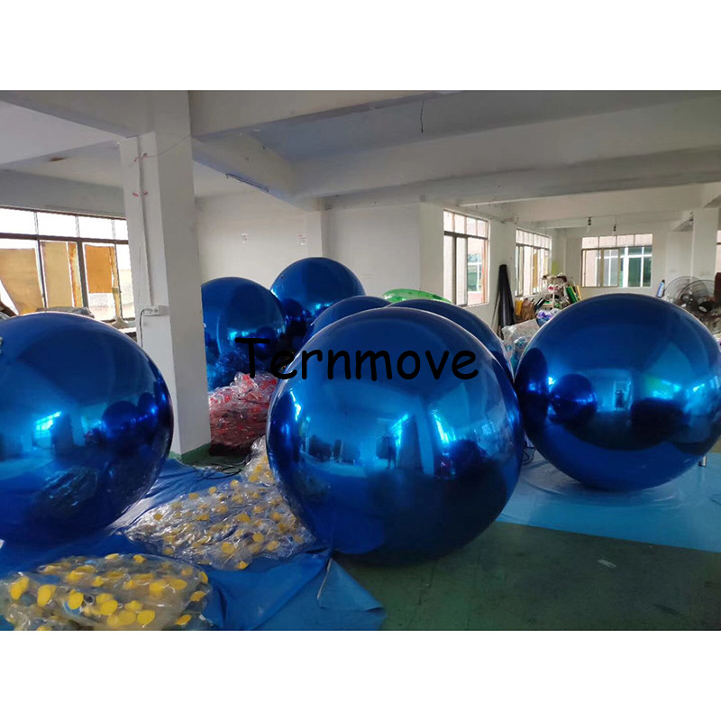 Blue Inflatable Mirror Ball Inflatable Balloon For Advertising 1m Christmas Stage Decoration Inflatable Advertising Ball Blue Inflatable Mirror Ball Inflatable Balloon For Advertising 1m Christmas Stage Decoration Inflatable Advertising Ball
