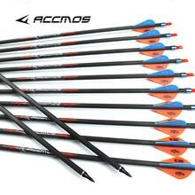 10pcs Arrowhead Thread Carbon Fiber Arrow Compound Bow Tips Target PoinHFZT
