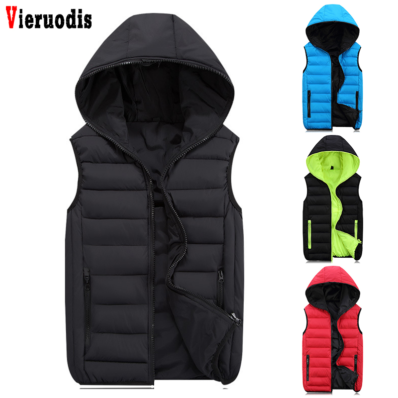 Spring For Men Fashion Warm Sleeveless Jacket Casual Coats Hooded Male Winter Vest Light Plus Size 4XL Waistcoat Mens Work Vests