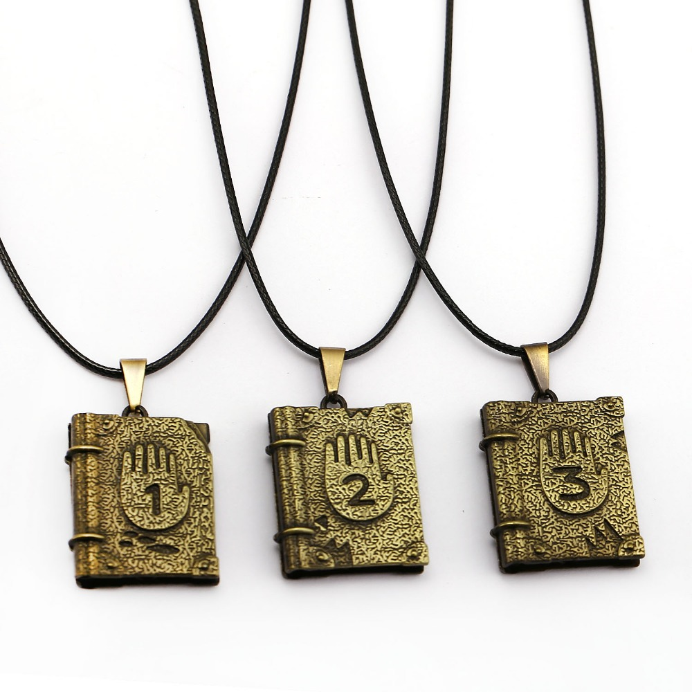 Gravity Falls Journal 3 Necklace Book Pendant Fashion Chain Necklaces