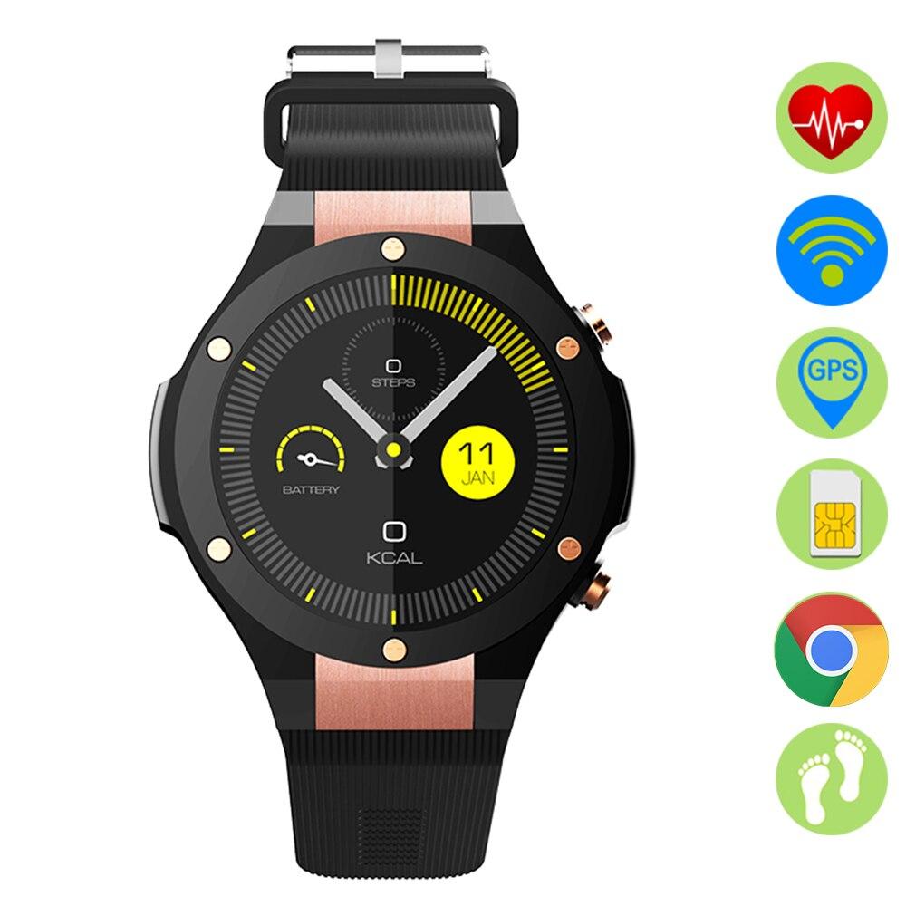 ZUCOOR font b Smart b font Watch With Pulse Monitor GPS WiFi RW62 Alarm Clock Wearable