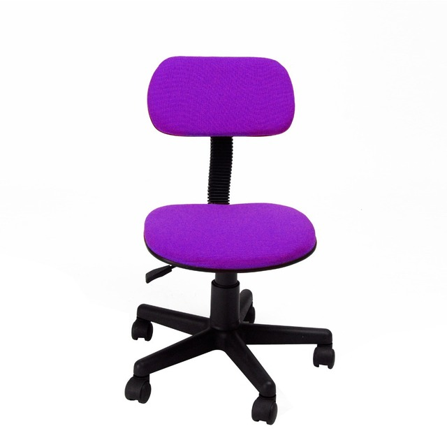 Simple Desk Chair Best Flooring For Office Chairs Fashionable Design Lift Style 360 Degree Swivel Purple With Fabric Pads Computer
