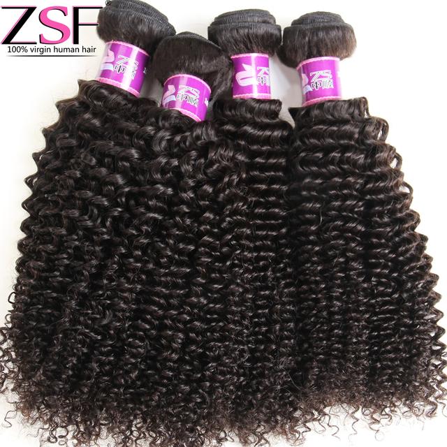 ZSF Empresa Cabelo 8A Não Transformados Kinky Curly Brasileiro Virgem Cabelo Afro Kinky Curly Cabelo Virgem Brasileiro Do Cabelo Weave Bundles