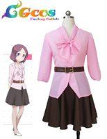Freies Verschiffen Cosplay Kostüm Neue Spiel! Toyama Rin Uniform Einzelhandel/Großhandel Halloween Weihnachten Partei Irgendeine Größe