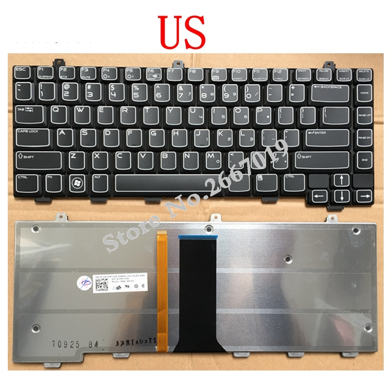 US New Replace laptop keyboard For Dell For ALIENWARE M15X backlight-in Replacement Keyboards