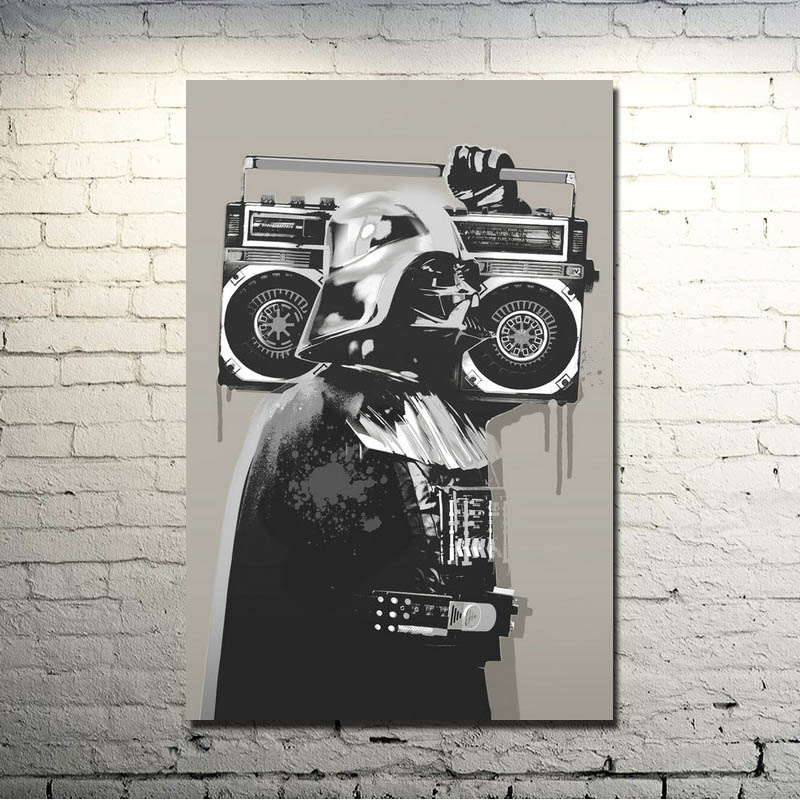 Banksy Graffiti Street Art Silk Fabric Poster 13x20 24x36 inches Konsttryck Bilder För Room Wall Decor 010