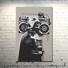 Darth Vader Banksy Graffiti Street Art Silk Fabric Poster