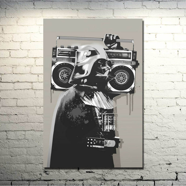 Graffiti Street Art Silk Fabric Poster 13×20 24×36 Inches Artwork Print Pictures Room Wall 010