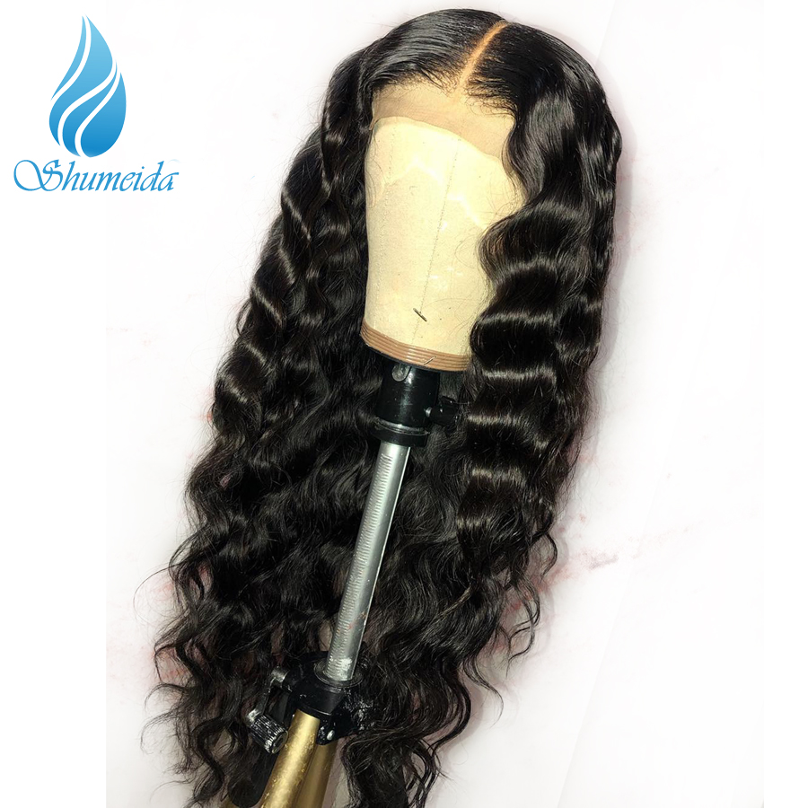 SHD 13 6 Lace Front Human Hair Wigs With Baby Hair Brazilian Remy Hair Glueless Wigs