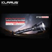 KLARUS XT32 CREE XP-L HI V3 LED 1200 Lumens Flashlight Tactical Hunting Searchlight with 1000-meter Ultra Long-Range