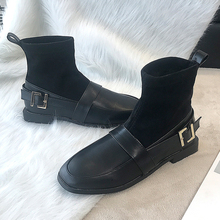 Ankle Boots For Women Fashion Slip On Sock Boots Winter Boots 2019 New Leather Boots Women Sexy Black Boots Plush Soft Ladies winter boots women 2018 new fashion ladies shoes sexy ankle boots for women beige black scarpe donna 8cm