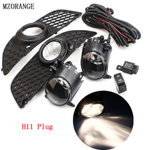 MZORANGE 1 Set H11 Car Front Fog Driving Lights Bumper Grille Cover Trim Hook up Wire