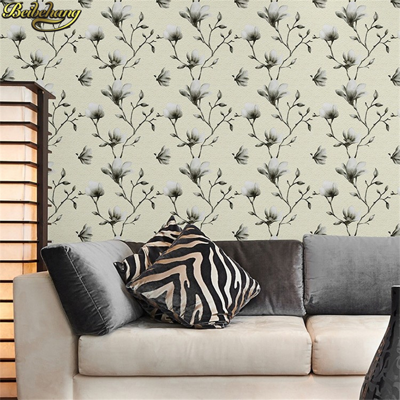 beibehang European papel de parede 3d Magnolia wallpaper for walls 3 d wall papers home decor living room bedroom painting roll набор для выращивания вырасти дерево мандарин zk 043