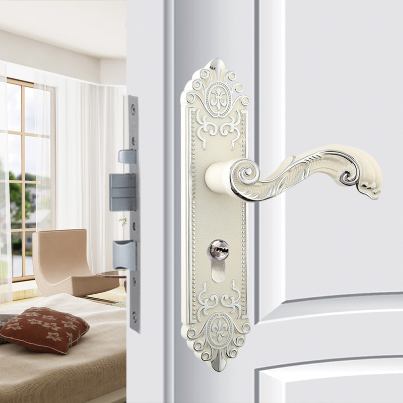 Cheap Continental Ivory Porcelain And Silver Interior Door Locks