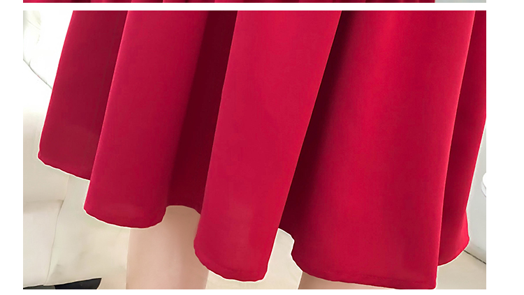 fashion bow collar women dresses party night club dress 2019 new spring long sleeve solid chiffon dress women clothing B101 30