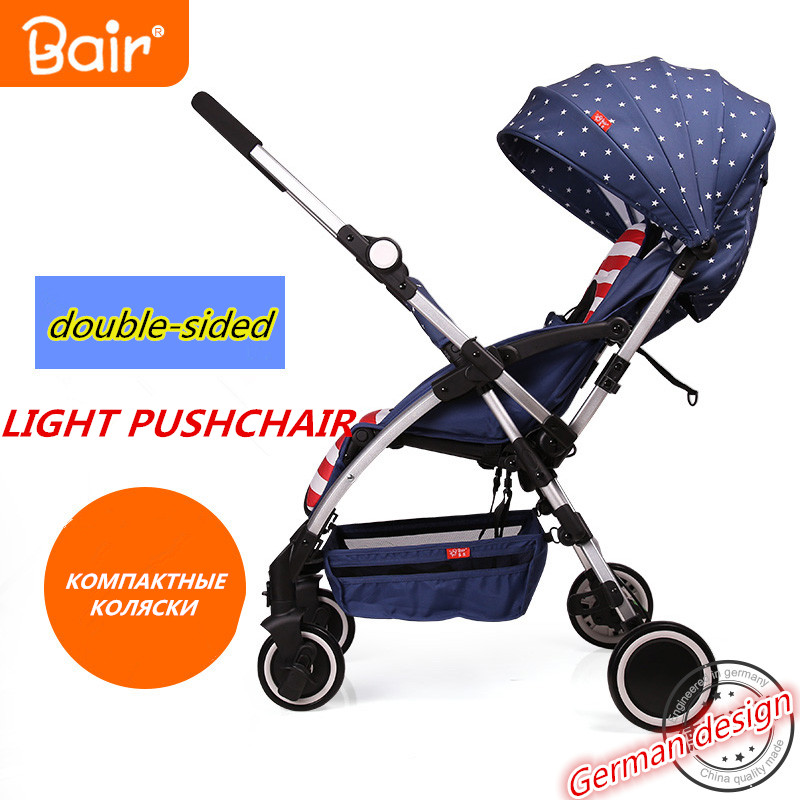 Bair baby stroller two-way ultra-light portable folding umbrella car summer car Carriage Baby Pram Travel Portable Lightweight black baby stroller ultra light four wheel boarding folding baby stroller car carriage umbrellababy stroller two way wheeled