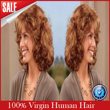 2017 New Perruque Cheveux Humain Blonde Lace Front Wig Brazilian Human Hair Virgin Short Wavy Full Wigs With Baby Freeshipping