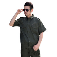 Tactical Shirts Quick Dry Work Wear Set Male Summer Short sleeve Military Uniform Working Outfit Mens Working Cloth & Pant Set