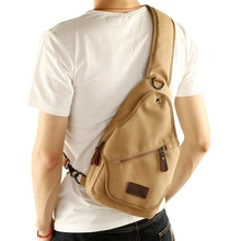 Usb Canvas Chest Bags Unisex Boston Bag Fashion Mens Polyester Travel Sling Pack Crossbody with USB Charging 2019