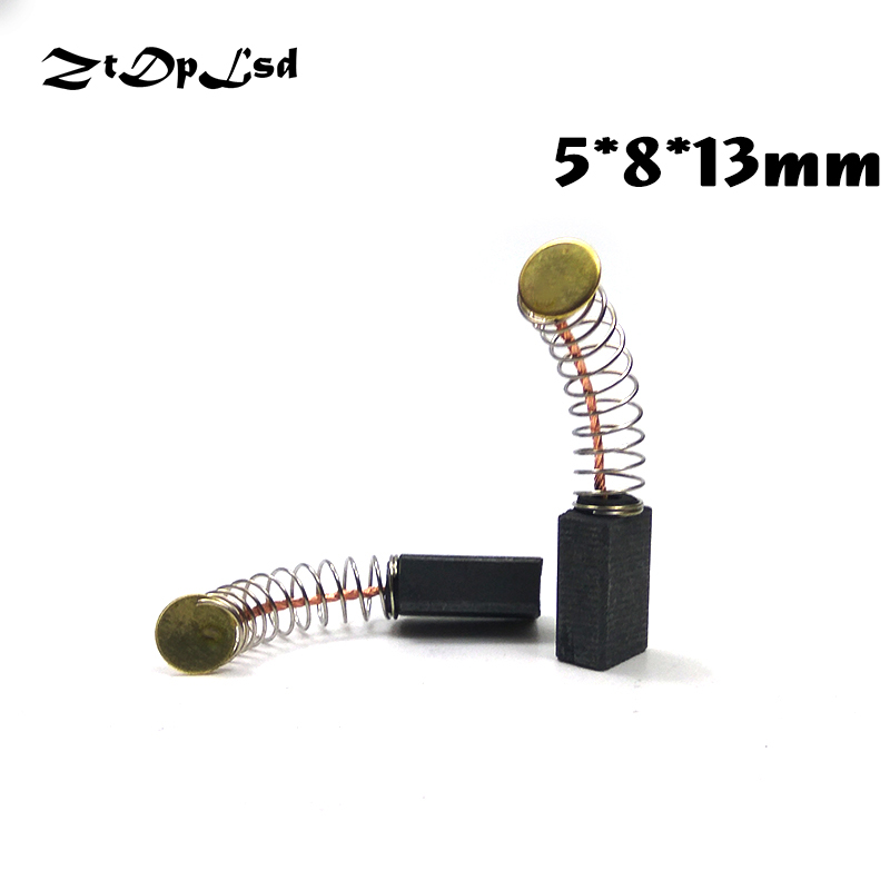 ZtDpLsd 2 Pcs/Pairs 5x8x13mm Mini Drill Electric Grinder Replacement Carbon Brushes Spare Parts For Electric Rotary Tool