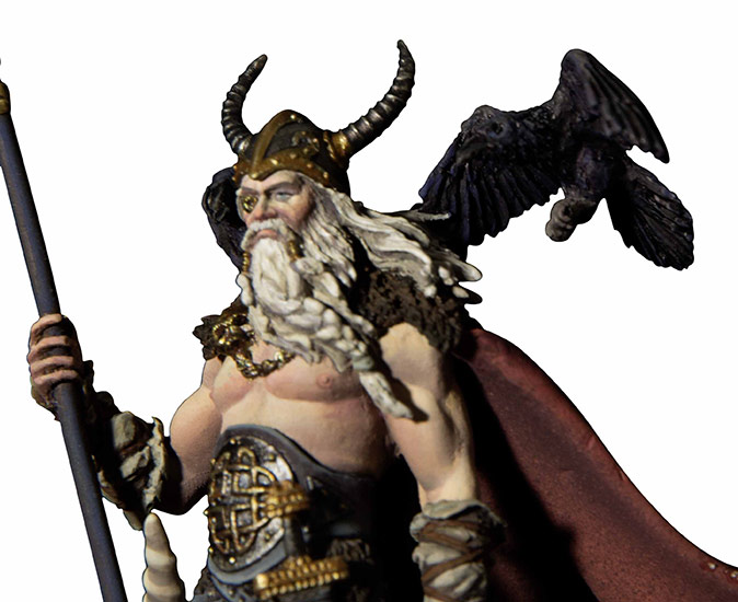 1/32 54mm Odin The Furious 54mm   Toy Resin Model Miniature Resin Figure Unassembly Unpainted
