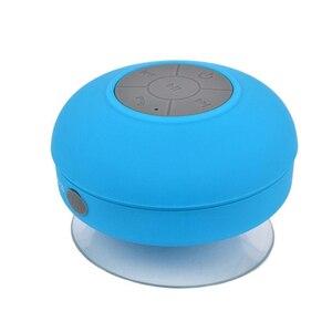 Image 2 - ミニポータブルサブウーファーシャワーワイヤレス防水の bluetooth スピーカーのハンズフリーコール音楽サクションマイク iphone サムスン