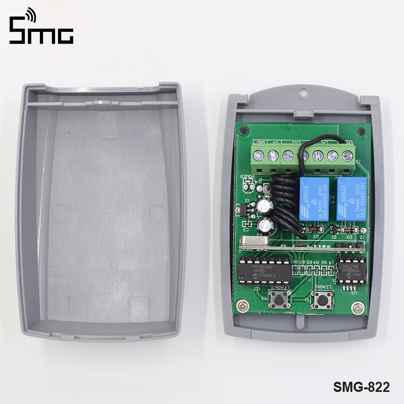 Télécommande et récepteur de commutateur de mot de passe de clavier sans fil pour le contrôle d'accès de porte de porte de garage 433MHz de haute qualité - 5