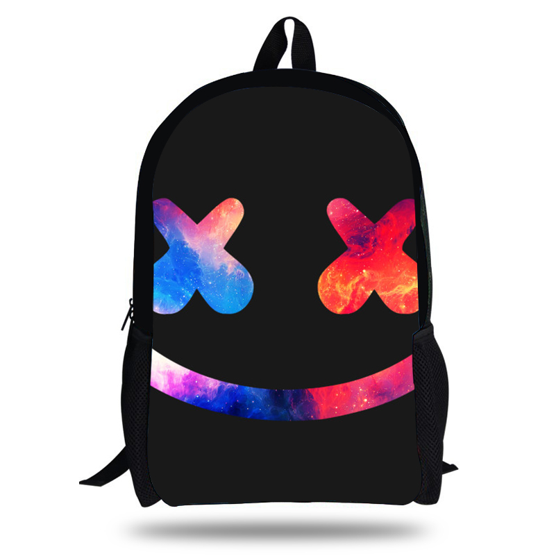 Newest Mochila Marshmello Logo Bag School Children Boy Fashion Popular  Backpack Kids School Bags For Teenagers