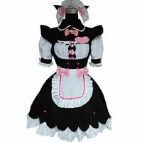 2018 nekopara cosplay sissy maid costume lolita uniform lockable dress costume nekopara vanilla outfit japanese french lingerie