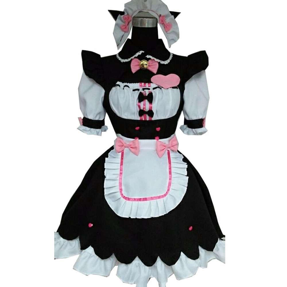 2018 nekopara cosplay sissy maid costume lolita uniform dress costume nekopara vanilla outfit japanese french lingerie