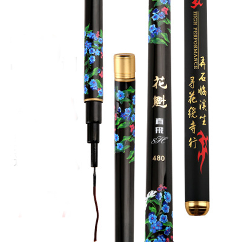 Black pit 8H fishing rod super light and hard taiwan rod big fish pole long throw telescopic fishing rod 2018 new super hard 19 tune carbon fishing rod for big fish crap ultralight taiwan rod 3 6 m 8 1 m telescopic pole