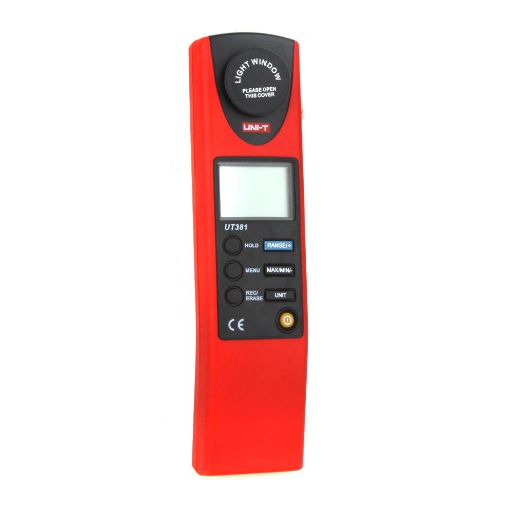 UNI-T UT381 Divisão Luz Luxmeter Meters 20-20000 Lumen Digital Luminômetro Luminometer Fotômetro Lux