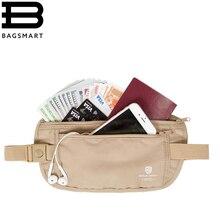 BAGSMART RFID Taille Sac de Haute Qualité Poche De Taille Voyage Ceinture D'argent Portefeuille Sacs Passeport Titulaires Changent Sûr Sangle