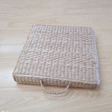 Portable Grass Square Meditation Seat Large Floor Cushions Japanese Futon Tatami Thickening Mat With Handle