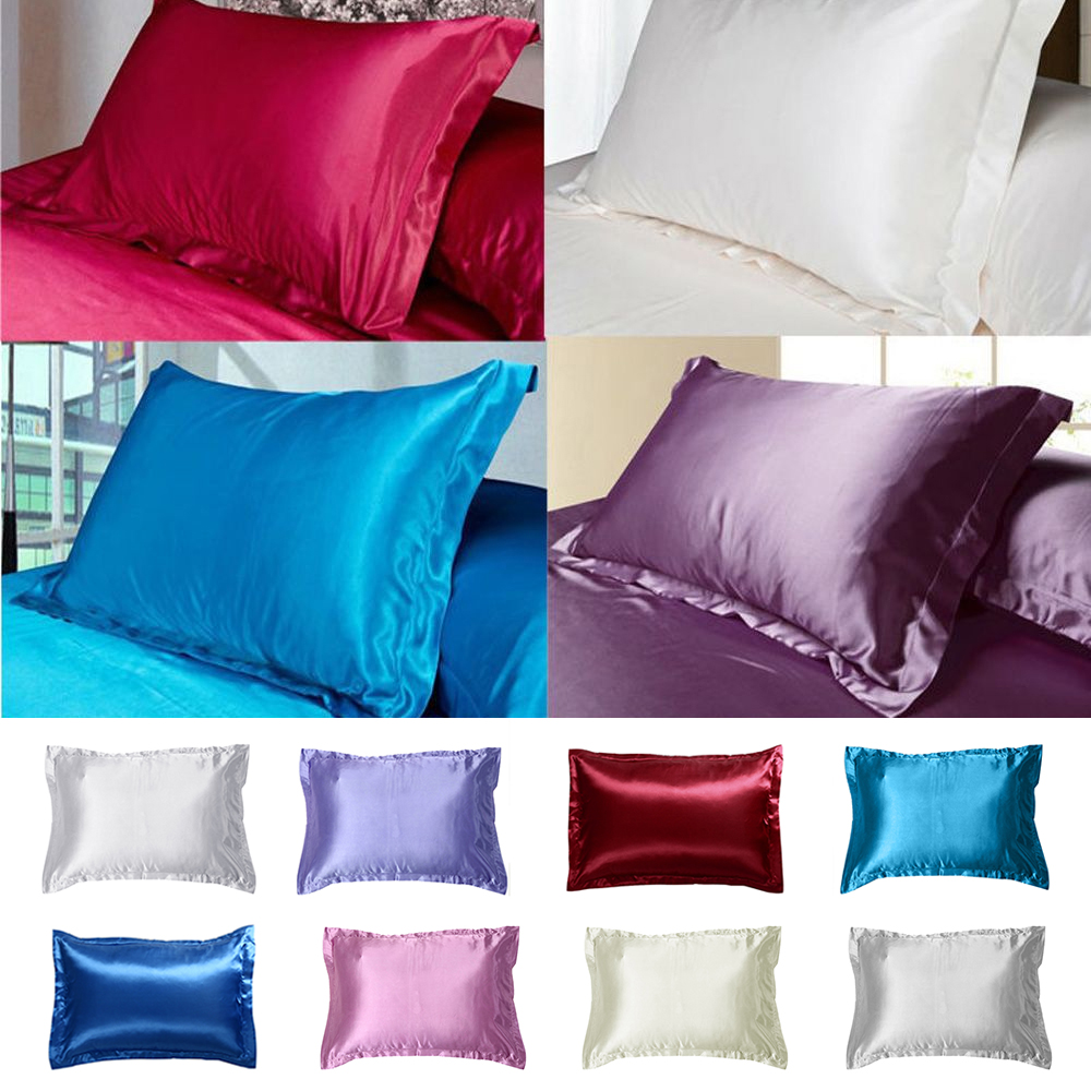 1 Pc 50 70cm New Soft Smooth Rectangle Queen Standard Silk