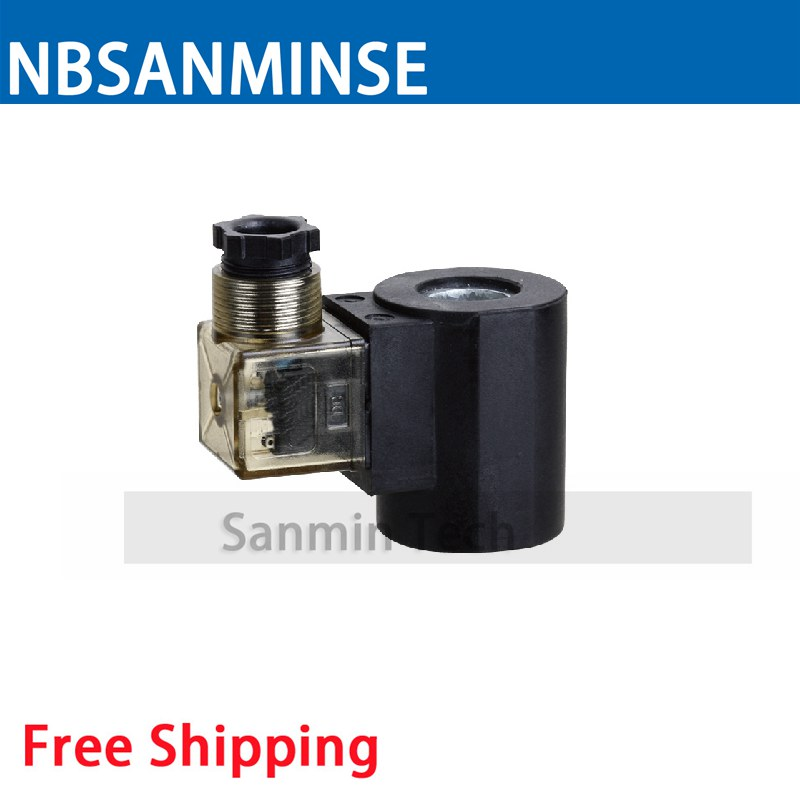 HC - 16 Hydraulic Electromagnetic Valve Coil Electrical Solenoid Valve Coil DC24V Voltage DIN43650A Type Valve Coil Sanmin