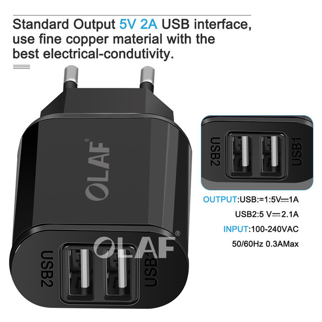 USB Charger Dual Ports