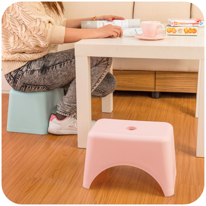Japanese creative fashion small plastic stool, child stool, bath stool changing his shoes weighing 180 pounds K4900 17 styles shoe stool solid wood fabric creative children small chair sofa round stool small wooden bench 30 30 27cm 32 32 27cm