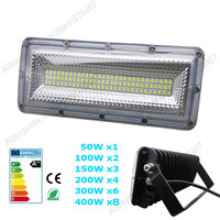 New AC220V LED Flood Light 50W 100W 150W 200W 300W 400W SMD5730 COB Chips Floodlight Landscape