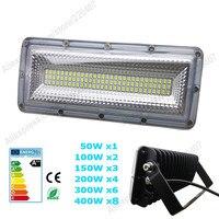 New AC220V LED Flood Light 50W 100W 150W 200W 300W 400W SMD5730 COB Chips Floodlight Landscape
